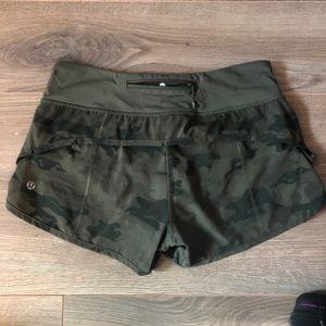 Lululemon Camo Speed Shorts